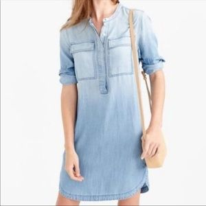 J. Crew lyocel chambray pullover dress size M